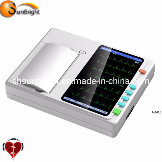 Portable LCD Color Screen 6 Channel ECG Adapter
