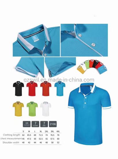 High-Quality Custom Classic Shirt Casual Dress 100% Cotton Polo Shirt