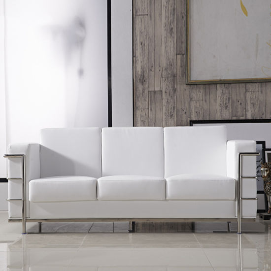 Office Luxury Couches White PU Single Seater Sofa