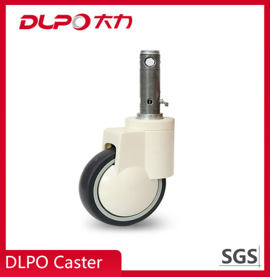 6 Inch Plunger Type Double Wheels Central Control Castor