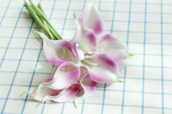 Home Wedding Decoration Flower Artificial PU Common Calla Lily Beauty Flowers