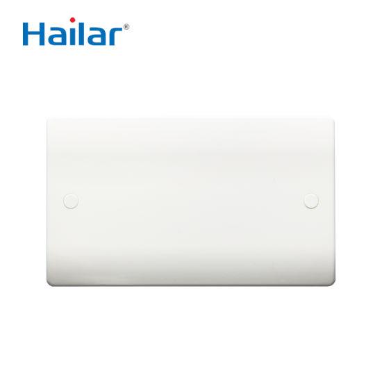 2 Gang Electrical Blank Wall Plate
