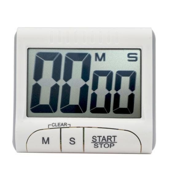 Big LCD Digital Electronic Timer Kitchen Timer Wall Timer Back Magnet Timer