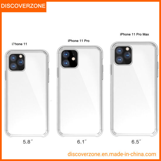 2019 China Factory Clear Phone Case iPhone11 Oringal TPU+Acrylic Cell Phone Cover for iPhone11PRO Max