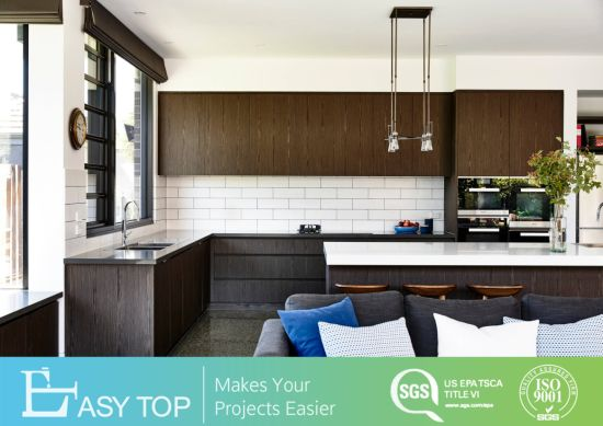 China Manufacturer Cabinet Handless Kitchen Cupboard Combination Set Wooden Kitchen Cabinet