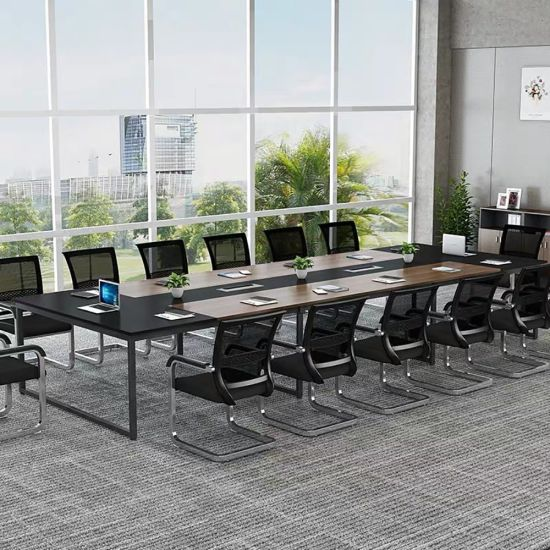 Modern Marble Look Solid Wood Conference Table Office Meeting Table for Sale