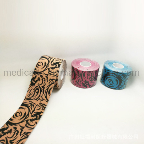All Cotton Elastic Muscular Tape Tattoo Pattern Color Muscle Paste pictures & photos