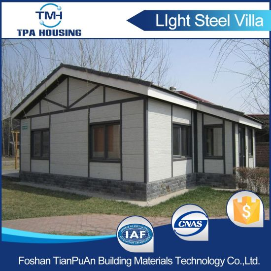 Modular Design Light Gauge Steel Prefab House with 2 Bedroom pictures & photos
