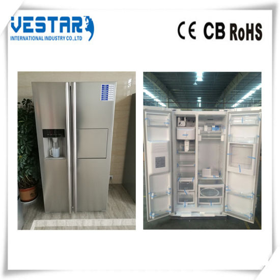 Defrost R600A Refrigerant Refrigerator with Wine Cooler pictures & photos