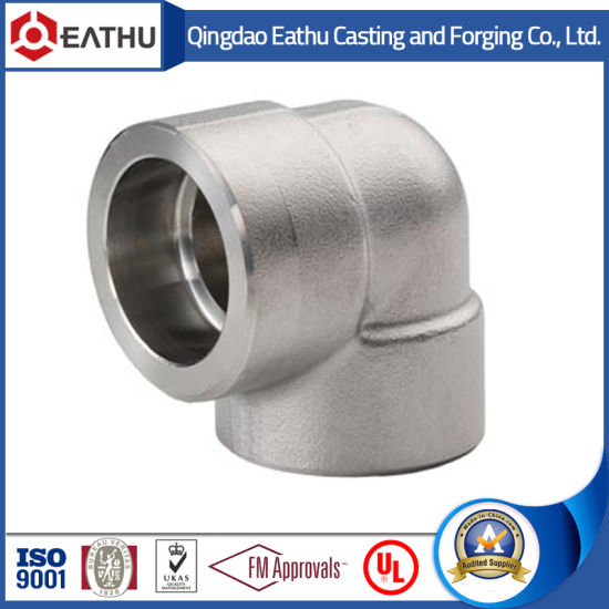 ANSI B16.11 Forged Steel 90 Degree Elbow of Type Socket Welding or Threaded