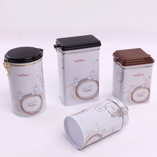 Four Sets Tins Airtight Coffee Tin Cans pictures & photos