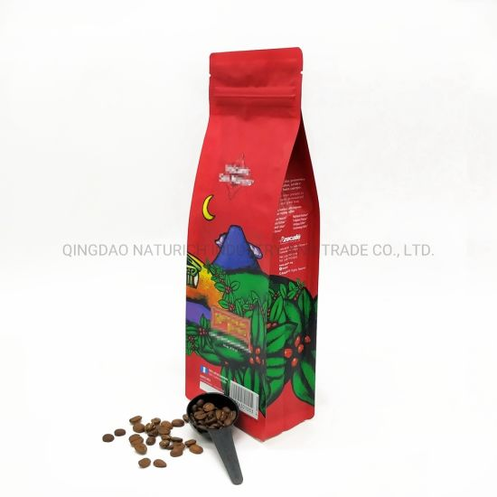 China 350g 400g 454g 1lb 500g Four Side Seal Coffee Bag With