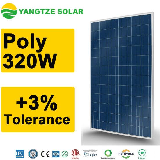 48V 320 Watt Poly Solar Panel for Power Supply