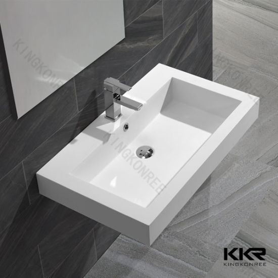 Pure White Marble Bathroom Furniture Hand Wash Basin