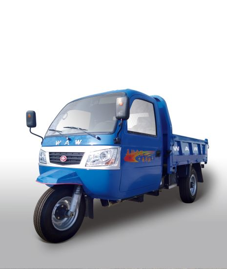 Waw Closed Cargo Diesel Motorized 3-Wheel Tricycle From China