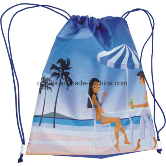 Promotional Drawstring Nylon Satin Non-Woven Organza Bag pictures & photos