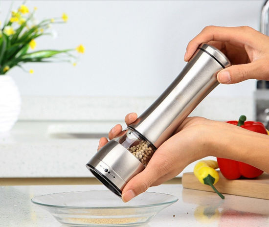 High Quality Stainless Steel Kitchenware Manual Salt Pepper Mill