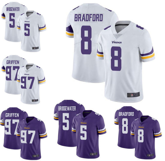 580da336f Wholesale Custom Sports Wear Kirk Cousins Everson Griffen Football Jersey