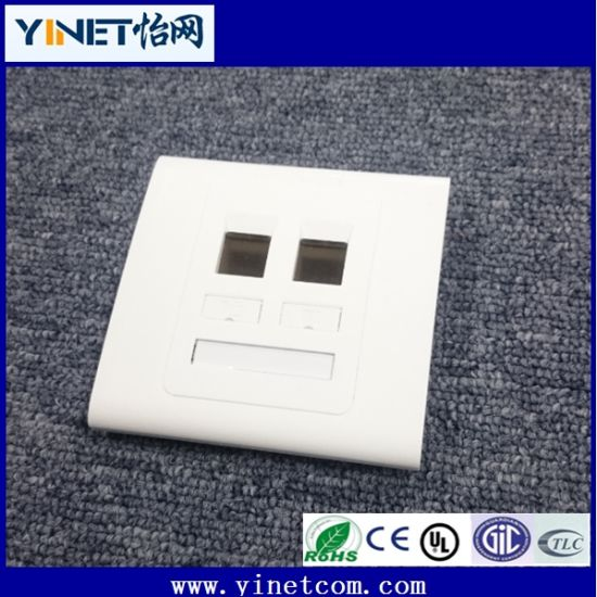Wholesale Wallmount RJ45 Keystone Faceplate with Single / Double Ports pictures & photos