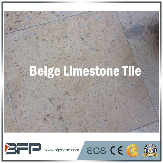 Cheap Natural Beige Limestone Floor Tiles For Living Room