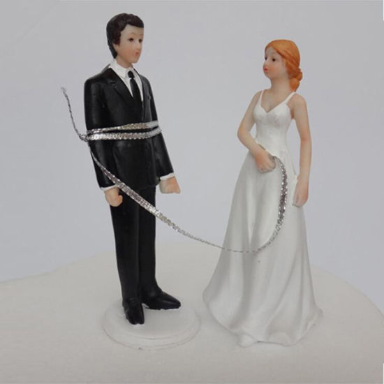 Funny Wedding Bride And Groom Cake Topper Decoration Couple