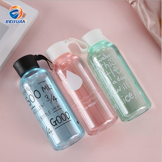600ml Wholesale High Capacity Easy Carrying Hot Sale New Style My Bottle PC Plastic Beverage Water Bottle with Cap