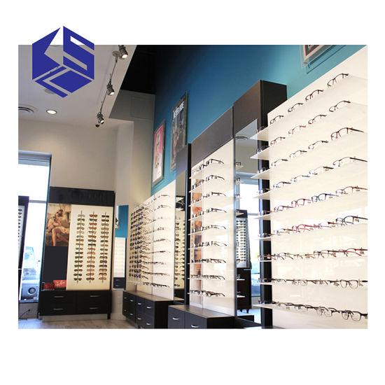 Shopping Mall Wood Counter Display Sunglasses
