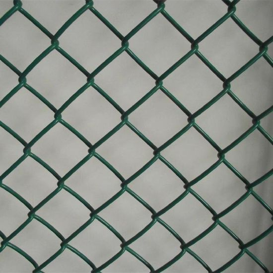 50*50mm Mesh 6FT Height Plastic Coated Diamond Chain Link Mesh for Playyard