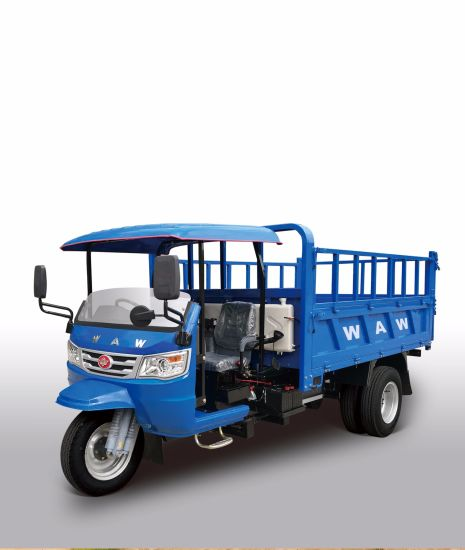 Waw Right Hand Drive Closed Cargo Diesel Motorized 3-Wheel Tricycle with Cabin From China