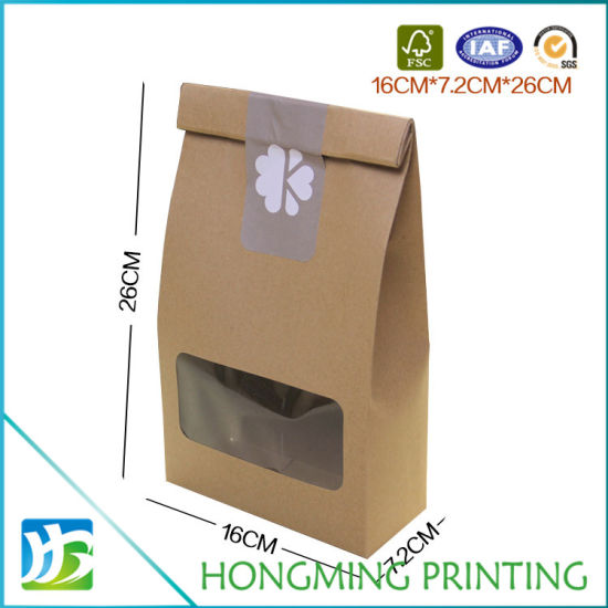Amazing China House Shape Brown Craft Food Paper Box With Pvc Window Download Free Architecture Designs Lectubocepmadebymaigaardcom