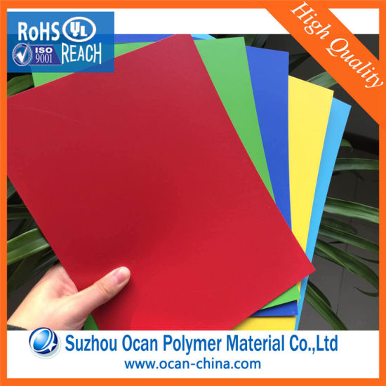China Colored Rigid PVC Sheets PVC Plastic Sheets for Stationery ...
