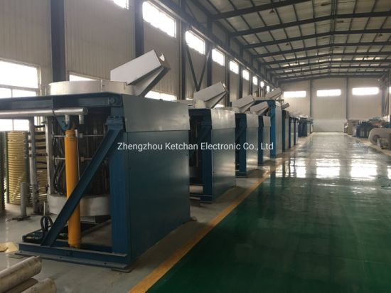 500kg Medium Frequency Induction Metal Melting Heater for Gold Silver Scrap Copper Iron Steel Aluminum Smelting