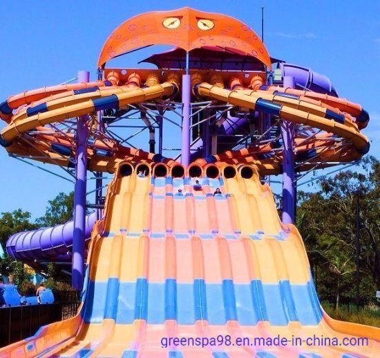 8-Lane Octopus Racer / Fiberglass Water Slide (WS-061)
