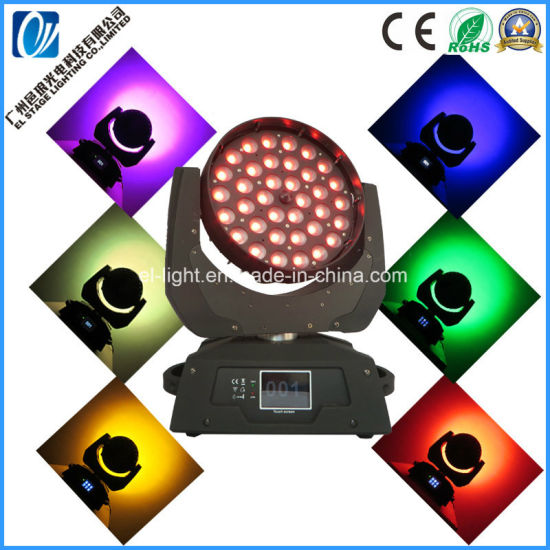 Disco Lighting 36 LED Zoom Wash Moving Head Lights From China Hot Selling for Night Club