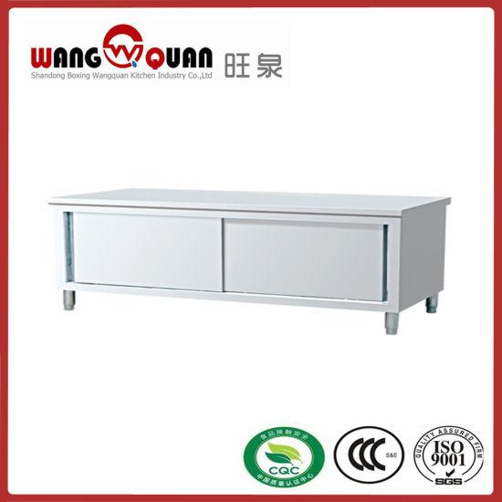 Single Swing Door Stainless Steel Worktable For Restaurant Kitchen