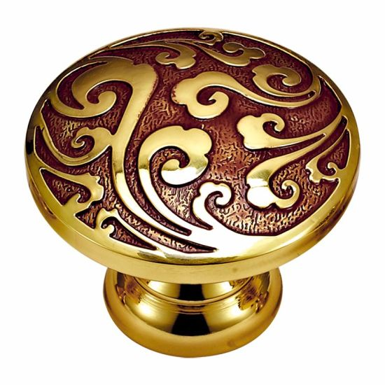 Classic Pattern Solid Brass Cabinet Pull and Knob pictures & photos