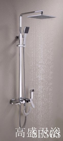 201 New Design Chinese Blue-and-White Ceramic Single Handle GS-052 Brass Rain Shower Set pictures & photos