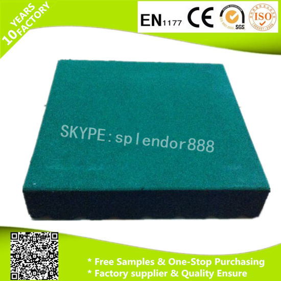 Made in China Cheap Factory EPDM Speckels Rubber Floor Tile, Rubber Tile for Gym