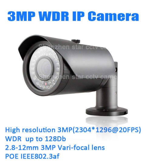 3MP Bullet Water-Proof Surveillance Digital Security CCTV Network Web IP Camera pictures & photos