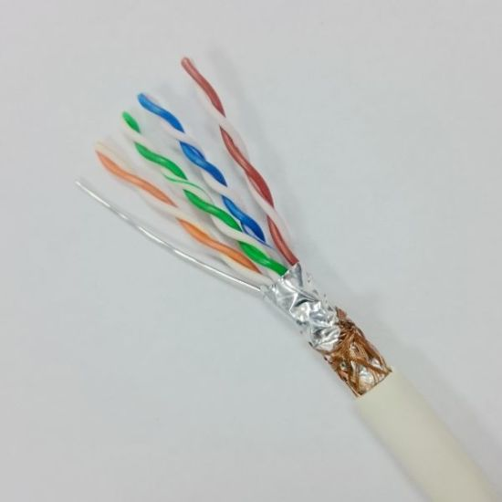 LSZH Cmr Cat 5e SFTP Double Sheild Ethernet Cable (ERS-1583252) pictures & photos