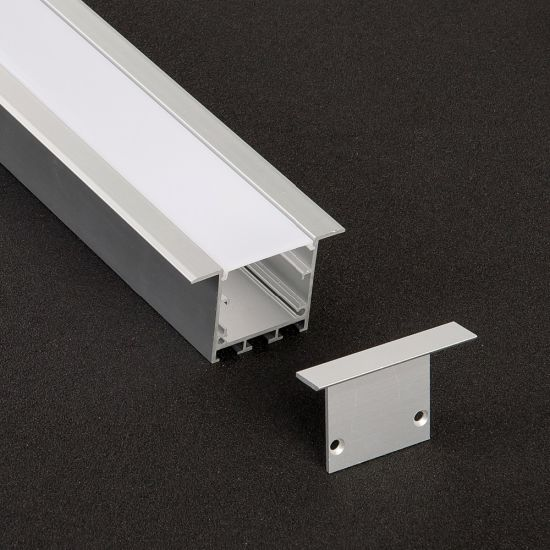 China Alu 55 X 35mm Recessed Aluminum Extrusion Channel Linear Light