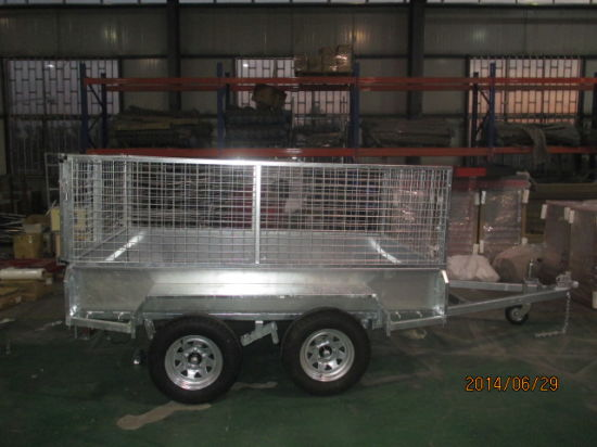 8X4 Hot DIP Galvanized Box Trailers with Mesh Cages (BT-84) pictures & photos