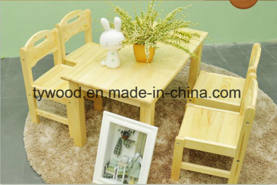 Solid Wood Children Table and Chair pictures & photos