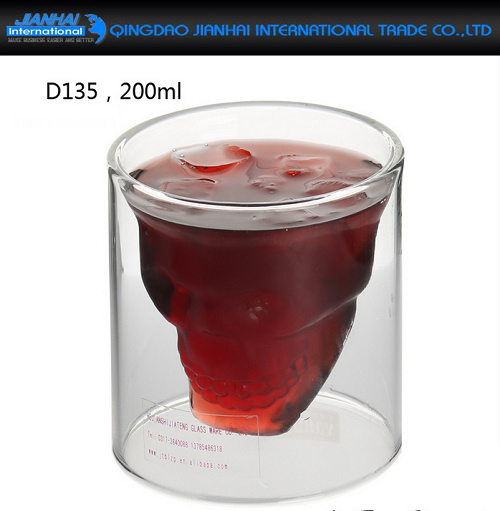 Handmade Creative Glass Double Wall Drink Cups for Water, Beer pictures & photos