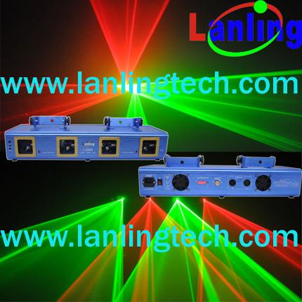 500mW four lens RG DMX DJ laser lighting(L2601)