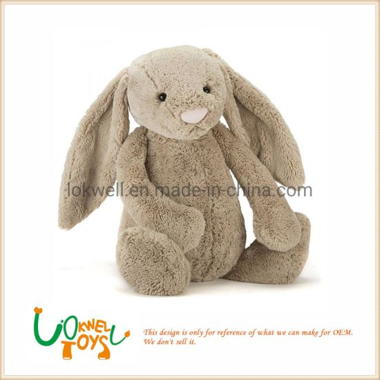 Customized Logo Lighter Brown Plush Bunny Doll pictures & photos