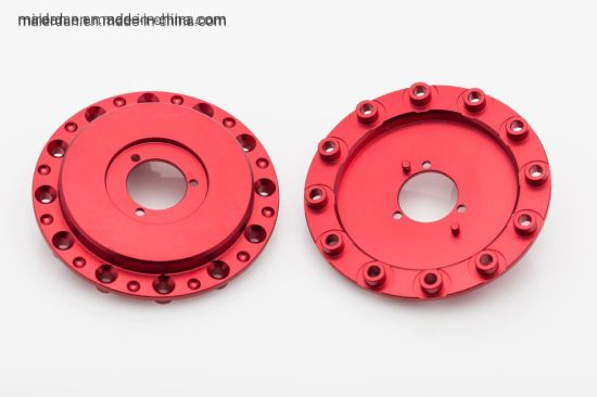 Precision Aluminum CNC Machining Red Anodized Parts Machining Service