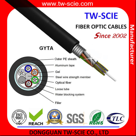 144/216 Core Optical Fiber Cable (GYTA) with 25 Year Warranty pictures & photos