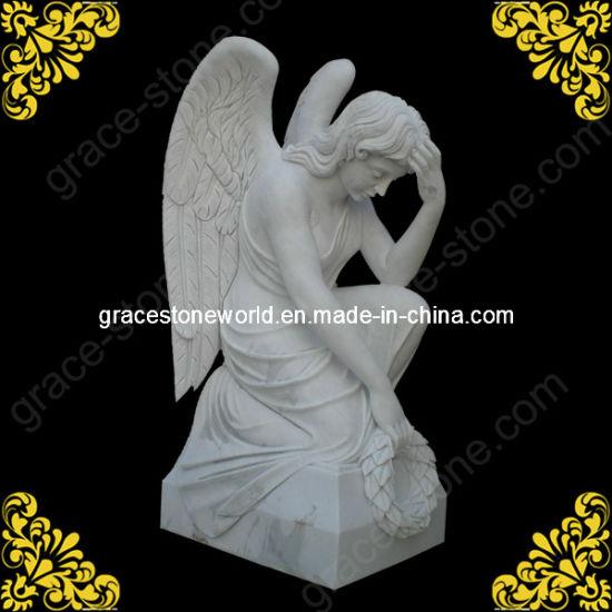 Stone Angel Statue/Kneeling Angel/Angel Headstone as Gravestones