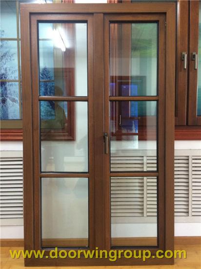 Solid Teak Wood Aluminum Window Wooden Window Frame Design Import Aluminium Wood Casement Window